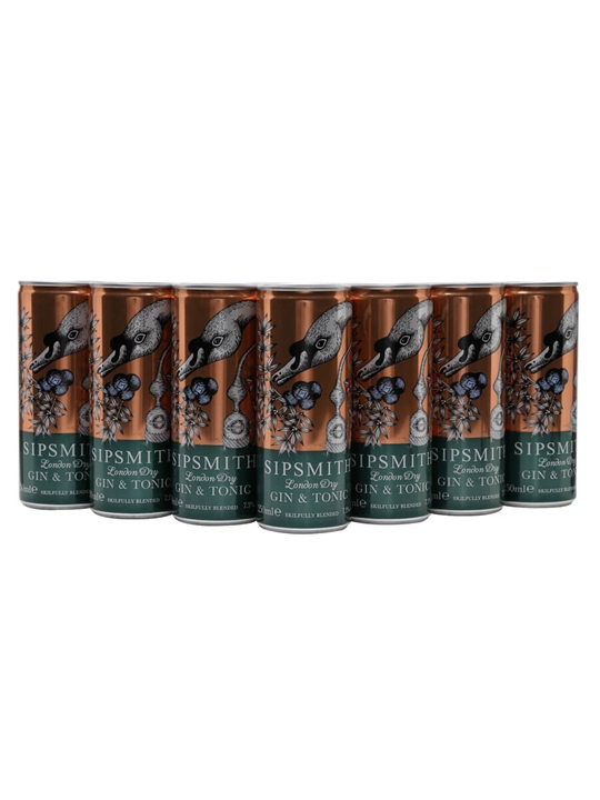 Sipsmith Gin & Tonic / Case of 12 Cans