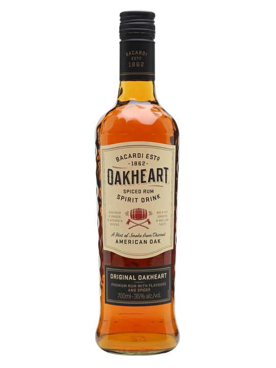 bacardi oakheart spiced rum spirit drink the whisky exchange