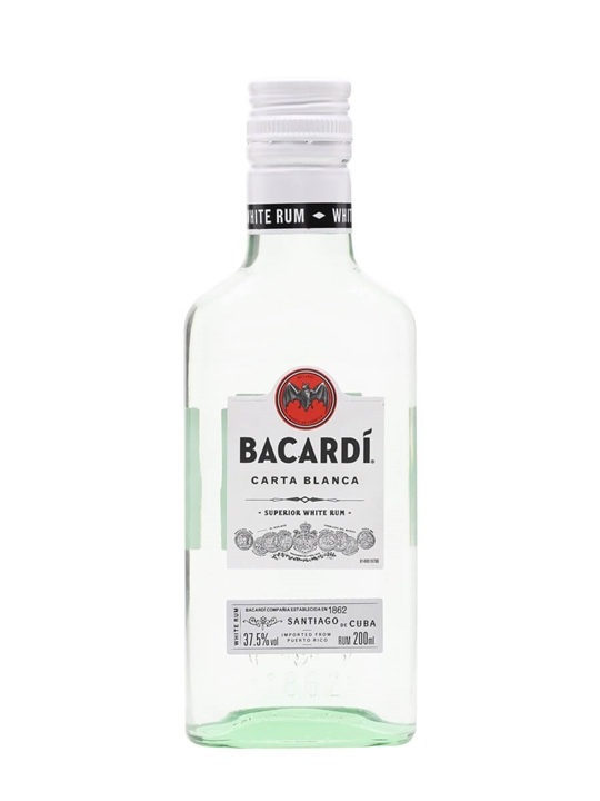 Bacardi Superior Carta Blanca Rum / Small Bottle