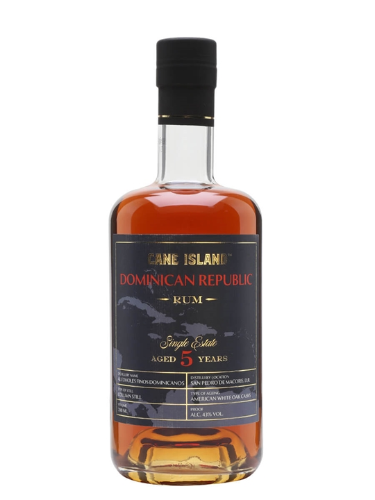 Cane Island Single Estate Dominican Republic 5 Year Old Rum