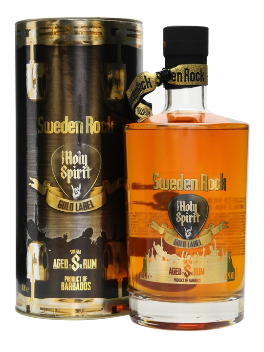 Sweden Rock Holy Spirit 8 Year Old Gold Label Rum The