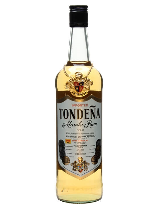 tondena gold manilla rum   the whisky exchange