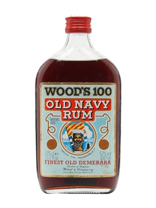 Wood S 100 Old Navy Rum Bot 1970s Half Bottle Buy