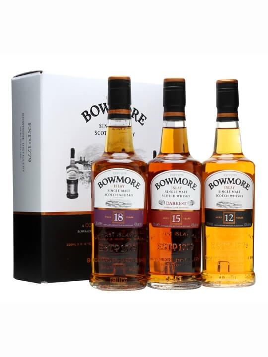 Islay Single Malt Scotch Whisky; Distillery Bottling. Bowmore Gift Pack / 3x20cl
