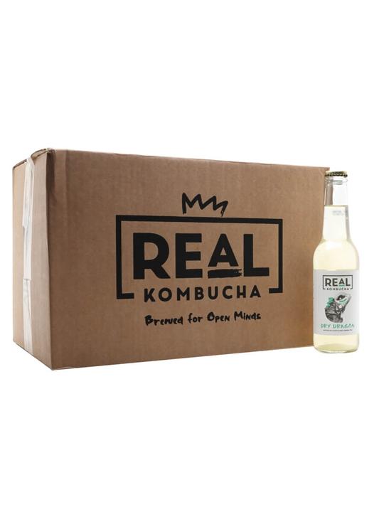Real Kombucha Dry Dragon / Case of 24 Bottles