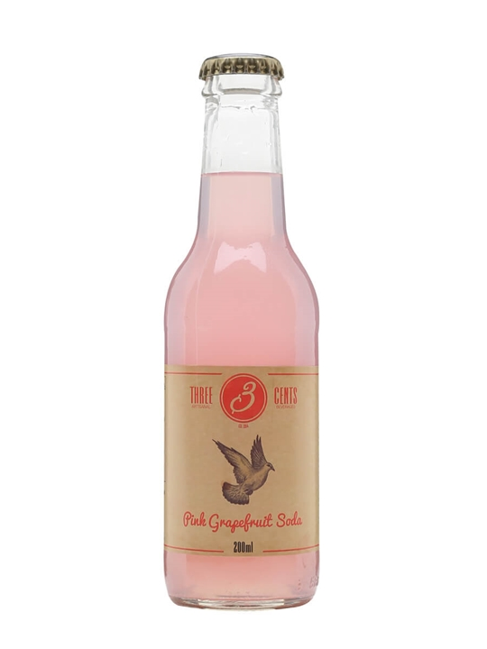 Three Cents Pink Grapefruit Soda : The Whisky Exchange