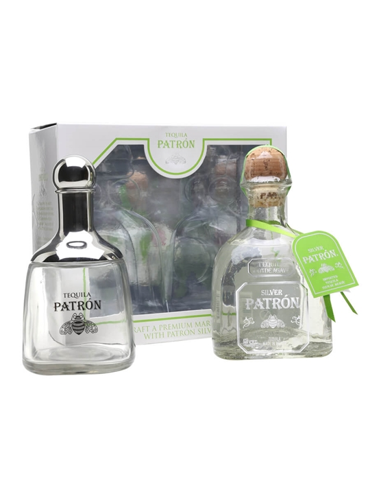 Patron Silver and Shaker set : The Whisky Exchange