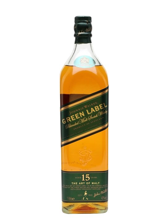 Johnnie Walker Green Label 15 Year Old / Litre