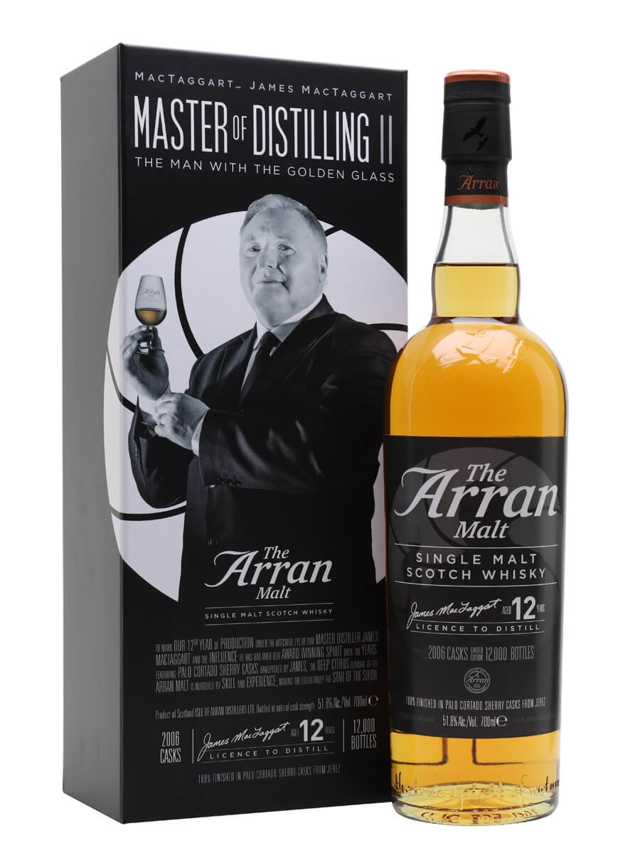 Arran 12 Year Old / The Man with the Golden Glass