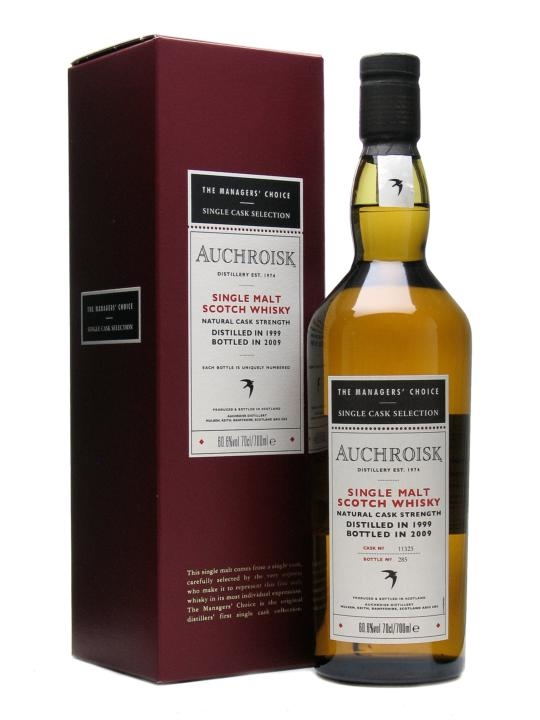 Auchroisk 1999 / 9 Year Old / Managers' Choice / Sherry Cask