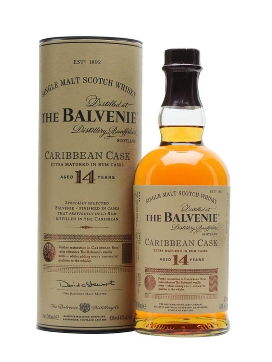 Balvenie single malt whiskey
