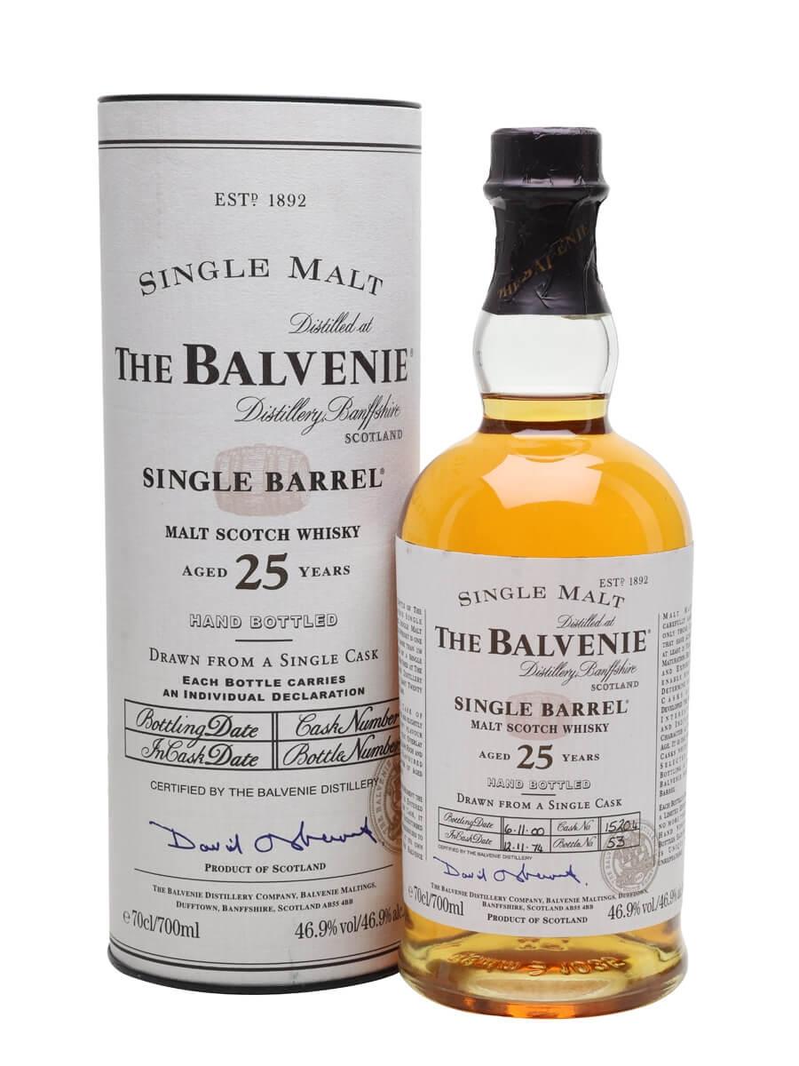 balvenie 25 yr single barrel