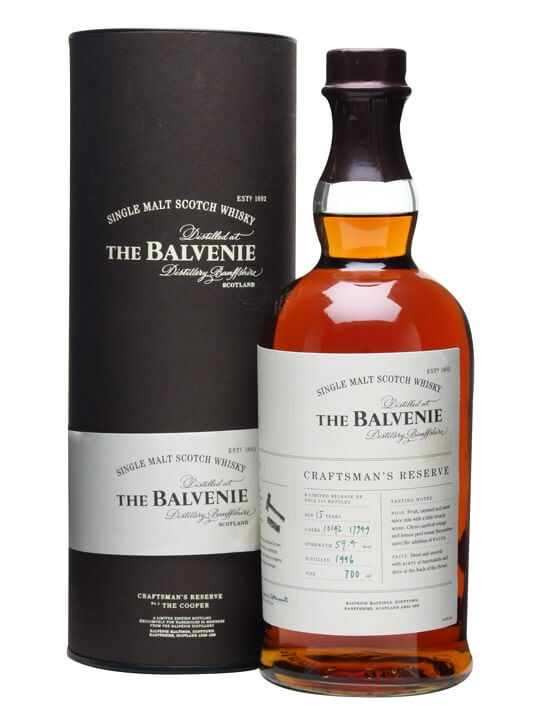 Balvenie 1996 15 year old craftman 39 s reserve the for Coopers craft bourbon review