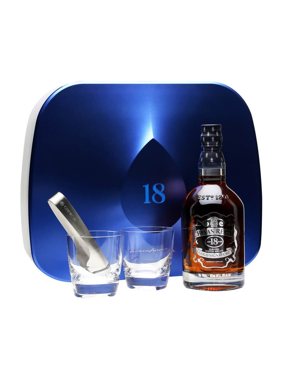 Chivas Regal 18 Year Old Pininfarina / Ice Drop Glass Pack
