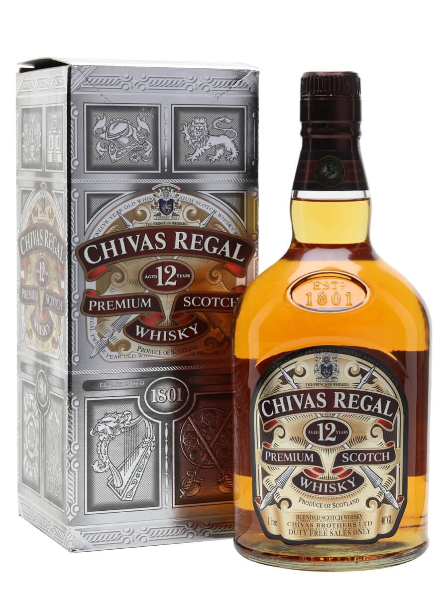 chivas regal 12 year old litre the whisky exchange. Black Bedroom Furniture Sets. Home Design Ideas