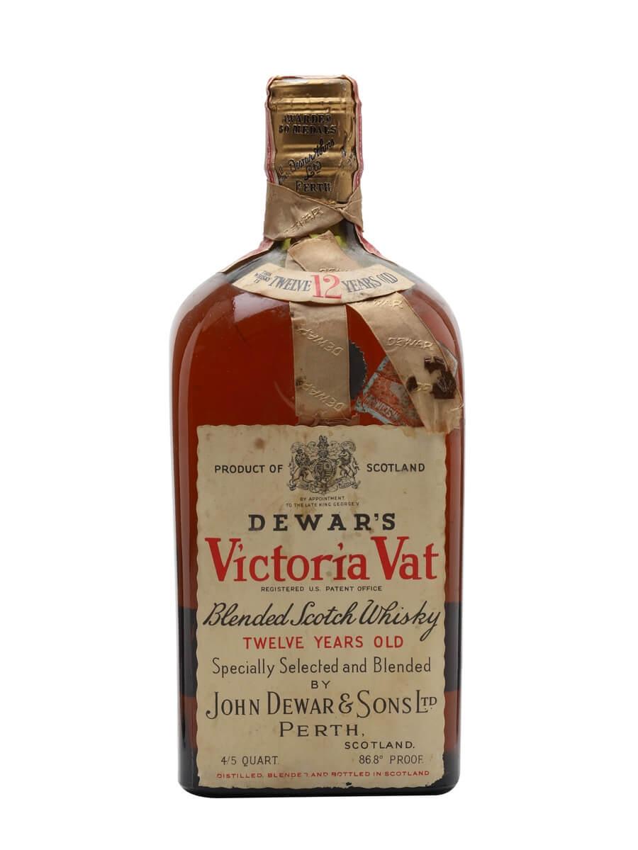 Dewar's Victoria Vat 12 Year Old / Bot. 1940's