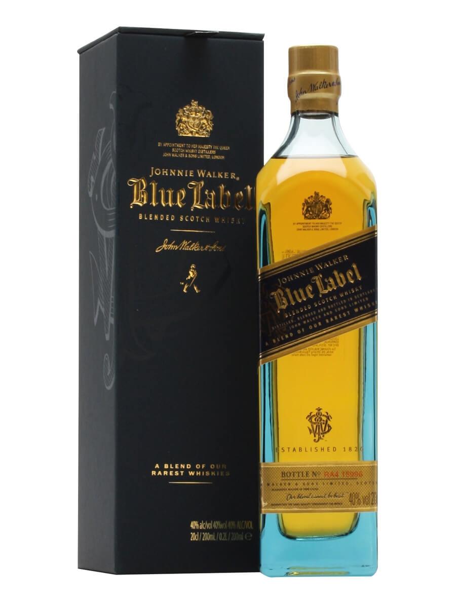 johnnie walker blue label small bottle the whisky exchange. Black Bedroom Furniture Sets. Home Design Ideas