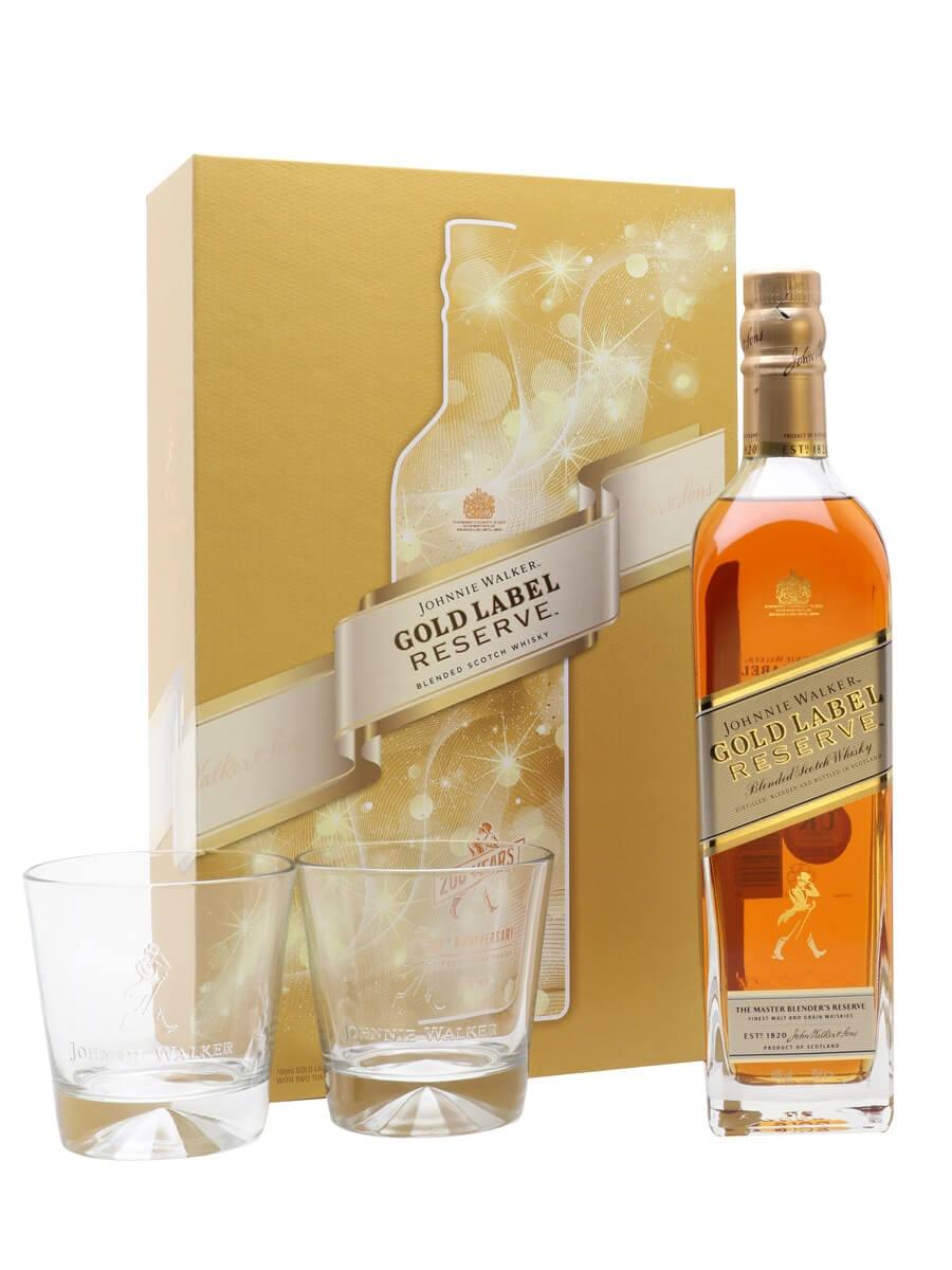 Johnnie Walker Gold Label Reserve / Glass Set