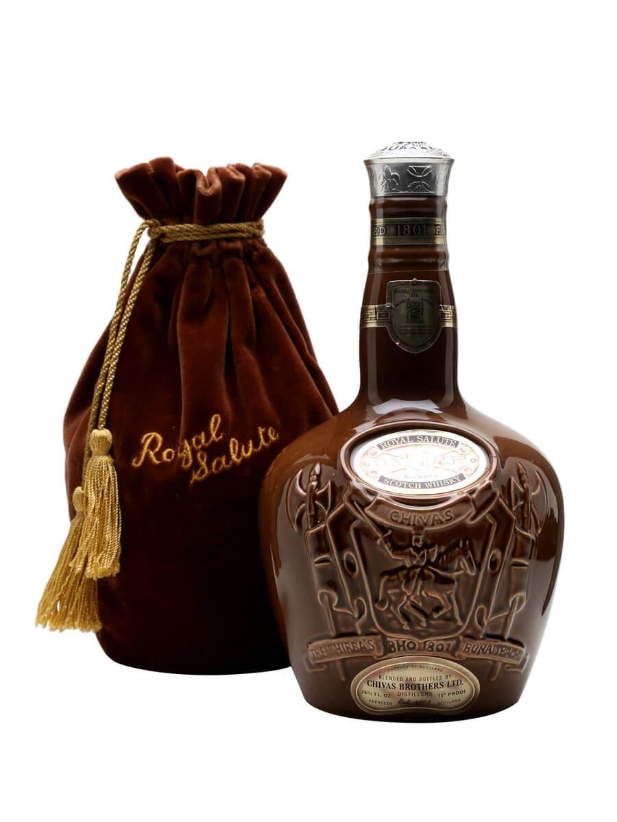 Royal Salute 21 Year Old / Bot.1970s/ Brown Spode Decanter