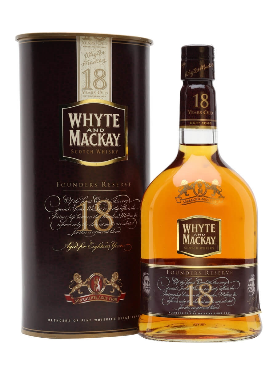 Whyte & Mackay 18 Year Old / Founders Reserve / Bot.1990s