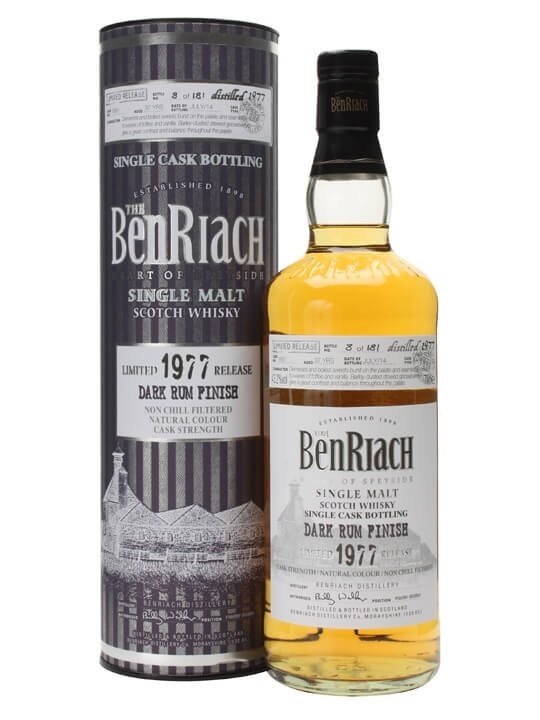 Benriach 1977 / 37 Year Old / Dark Rum Finish / Cask #1891
