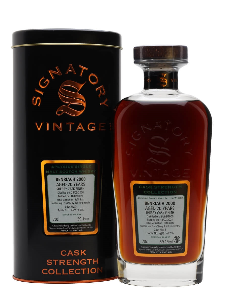 Benriach 2000 / 20 Year Old / Sherry Cask / Signatory