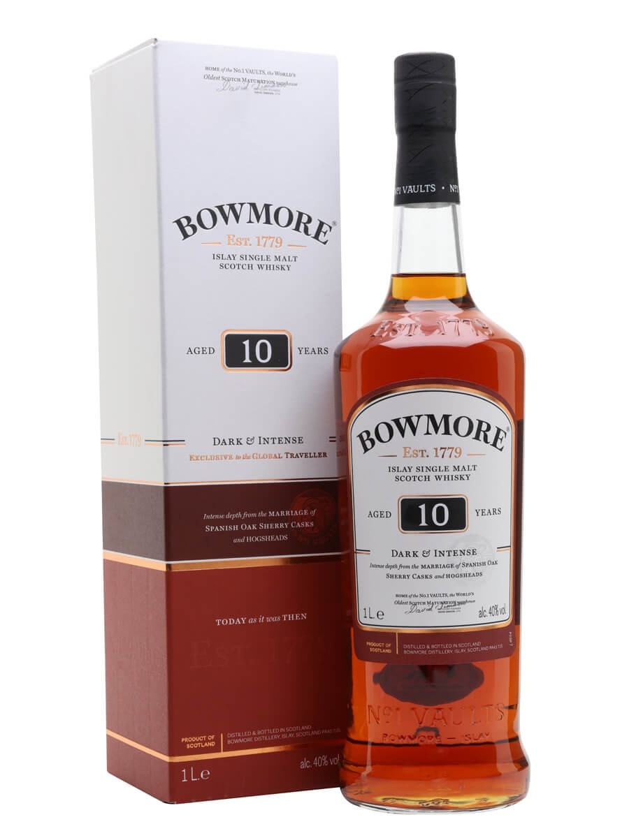 Bowmore 10 Year Old / Dark & Intense / Litre