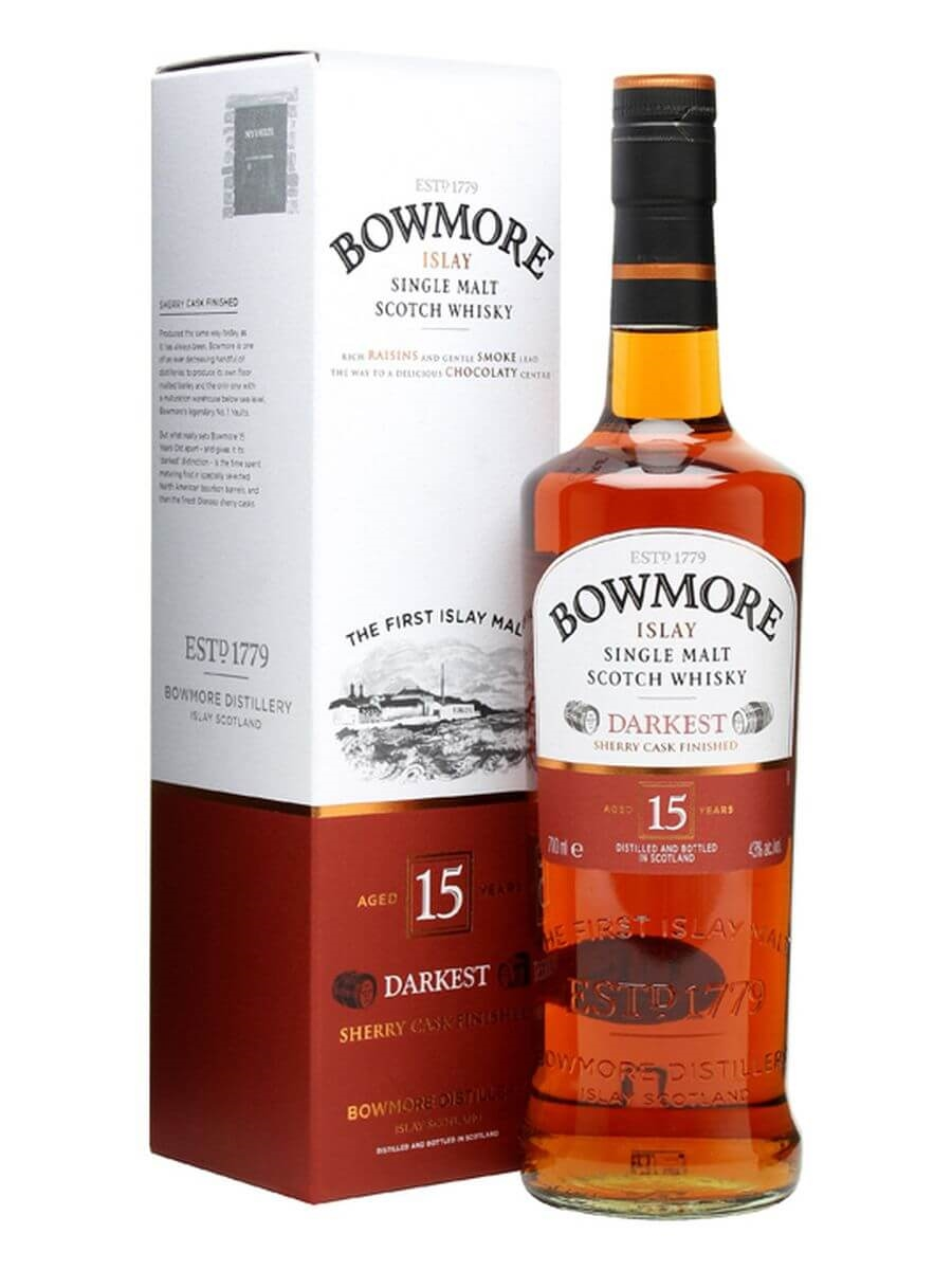 0631c056445 Bowmore 15 Year Old Darkest Scotch Whisky   The Whisky Exchange