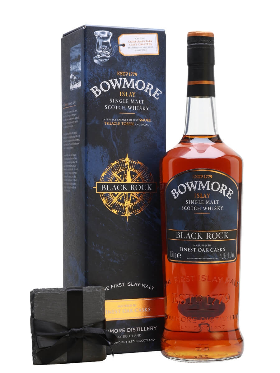 Bowmore Black Rock with Free Coaster / Litre