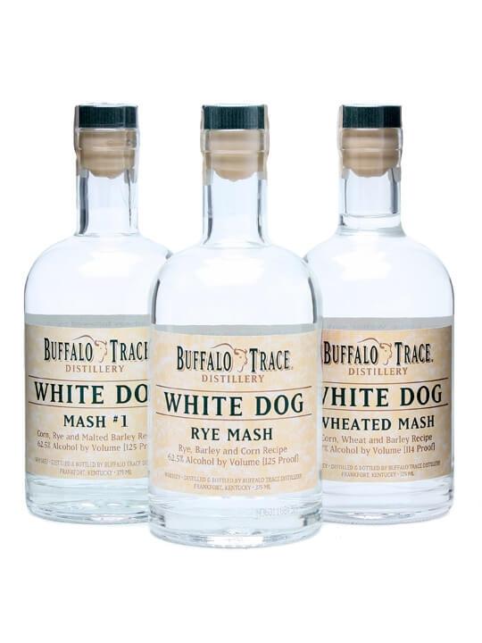 Buffalo Trace White Dog 3 Bottle Set