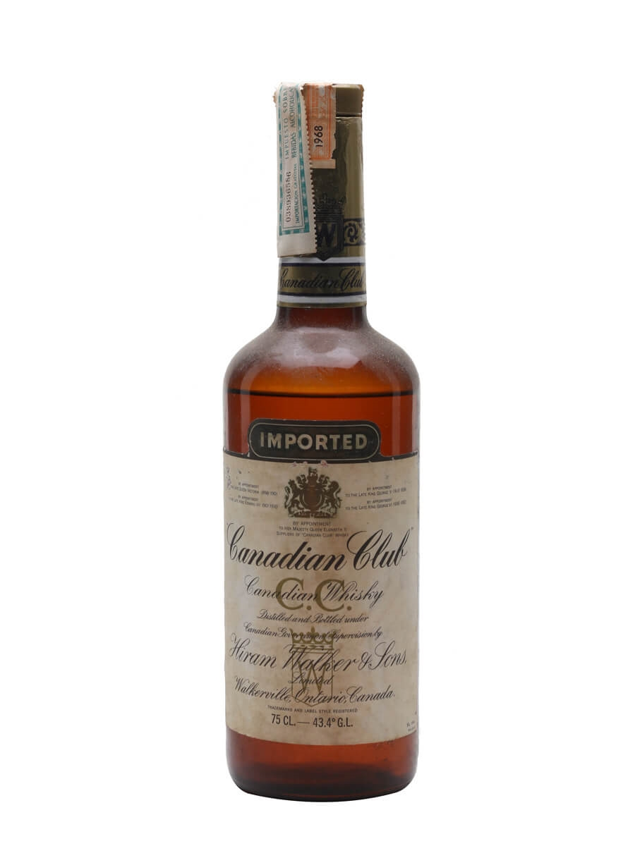 Canadian Club Whisky / Distilled 1968 / Bot.1970s