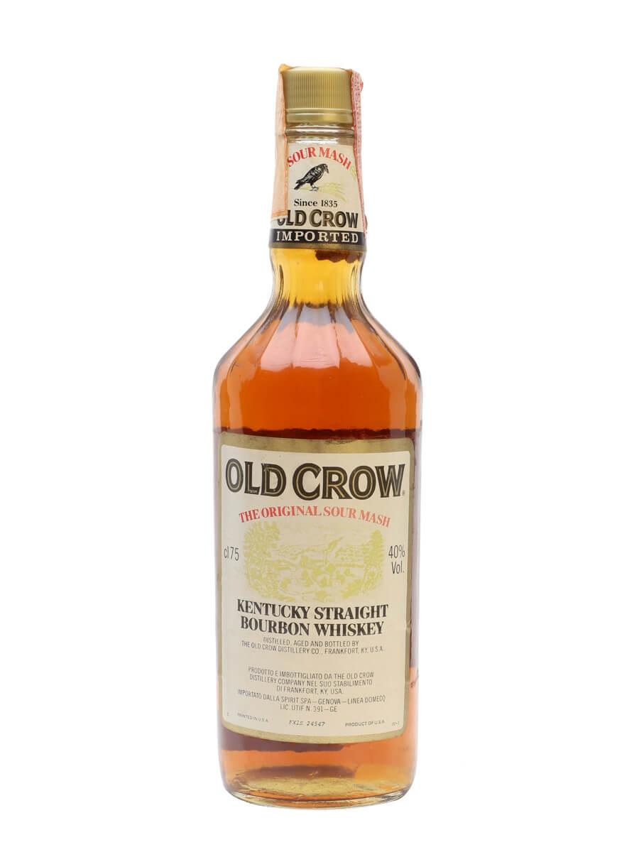 Old Crow Kentucky Straight Bourbon / Bot.1980s