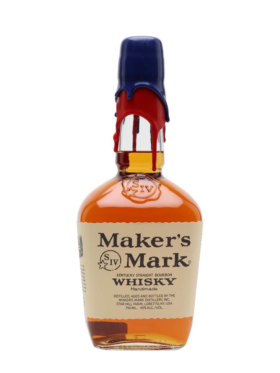 Maker's Mark / New England Patriots / Blue & Red Wax