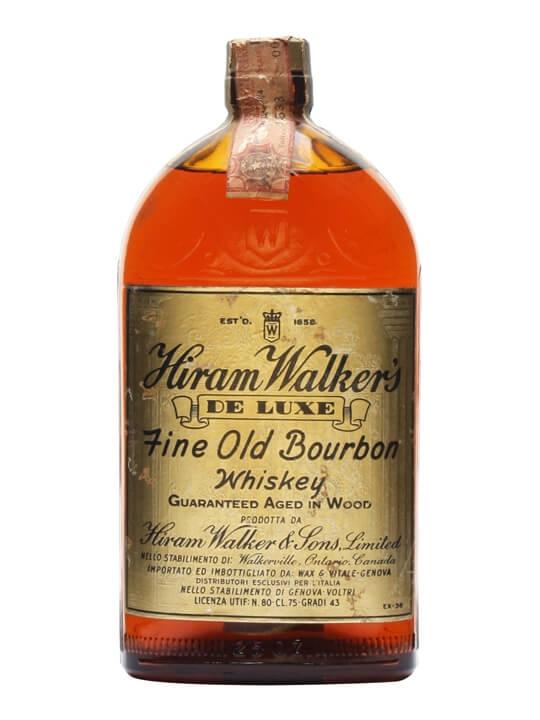 Walker's De Luxe Bourbon Whiskey / Bot.1950s