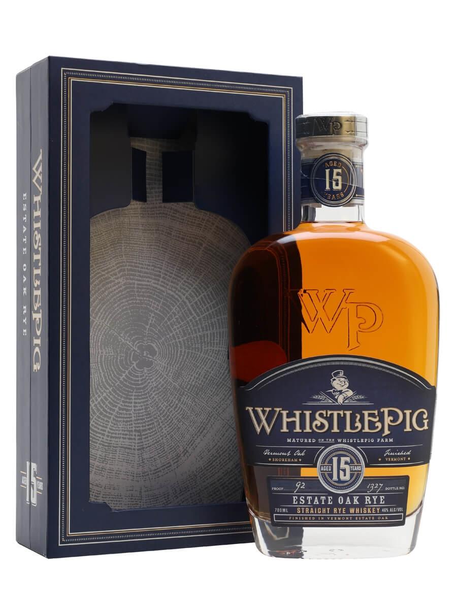 WhistlePig 15 Year Old Estate Oak Rye Whiskey