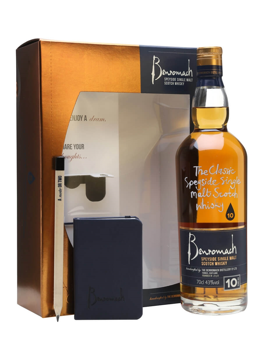 Benromach 10 Year Old / Note Book Gift Set