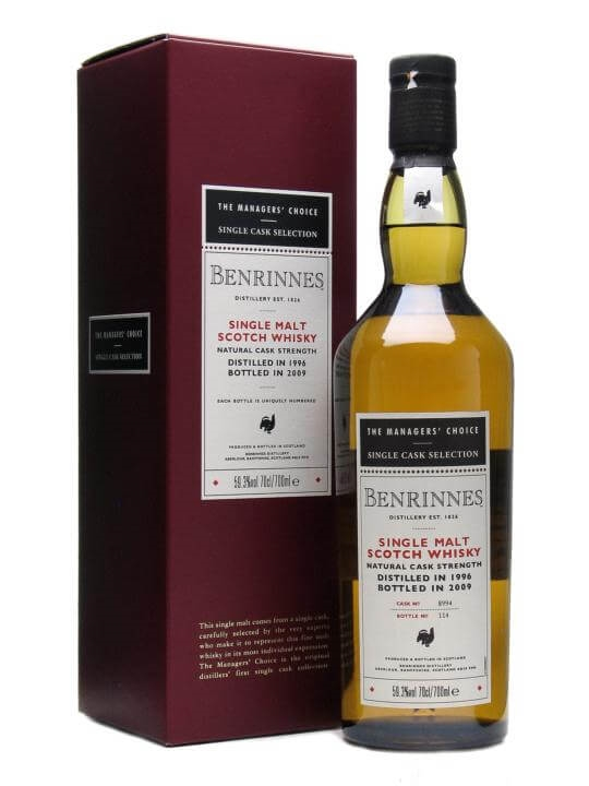 Benrinnes 1996 / 12 Year Old / Managers' Choice