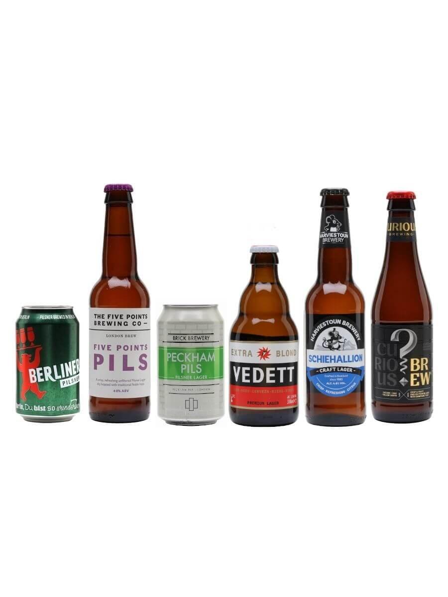 Pilsner and Lager Beer Bundle / 6 Pack