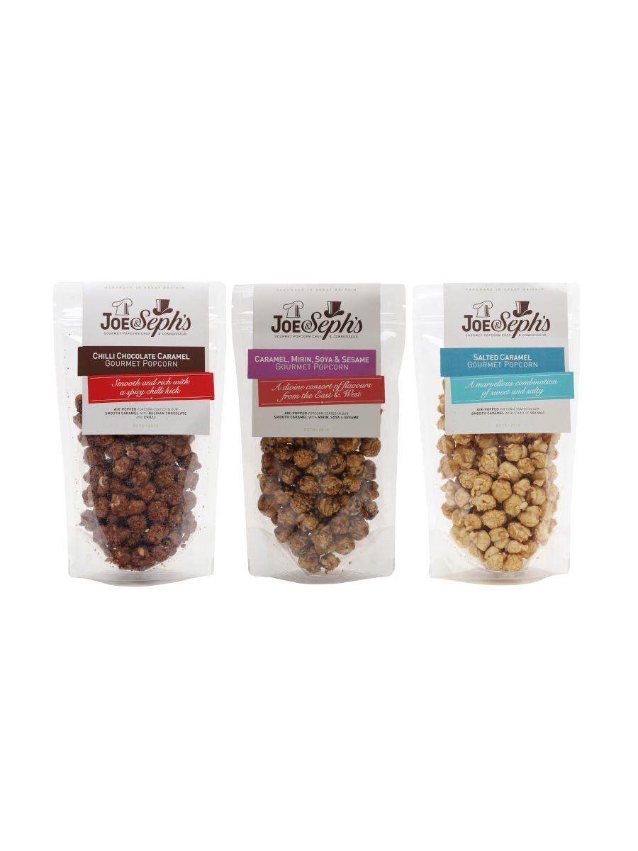 Joe & Seph's Sweet and Savoury Popcorn Trio / 3x80g