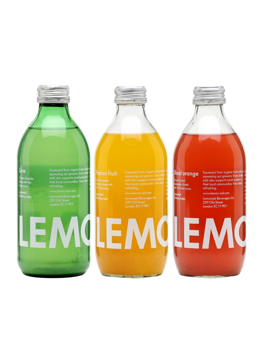 Lemonaid Organic Soft Drink Collection / 3 Bottles