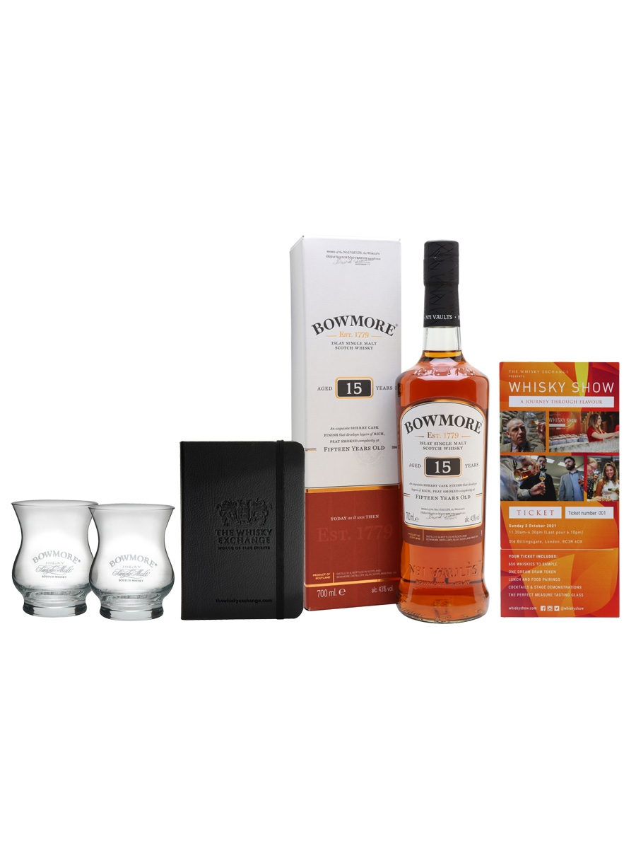 Bowmore 15 Year Old Whisky Show Package / 1 Ticket