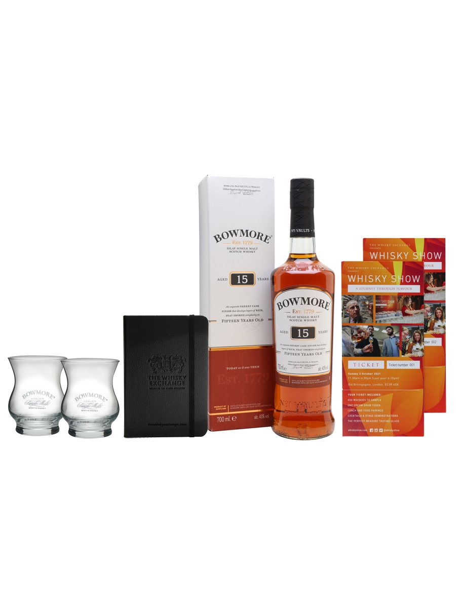 Bowmore 15 Year Old Whisky Show Package / 2 Tickets