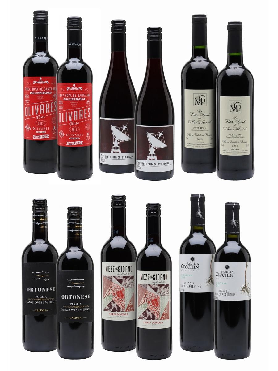 Red Delight Wine Case / 12 Bottles