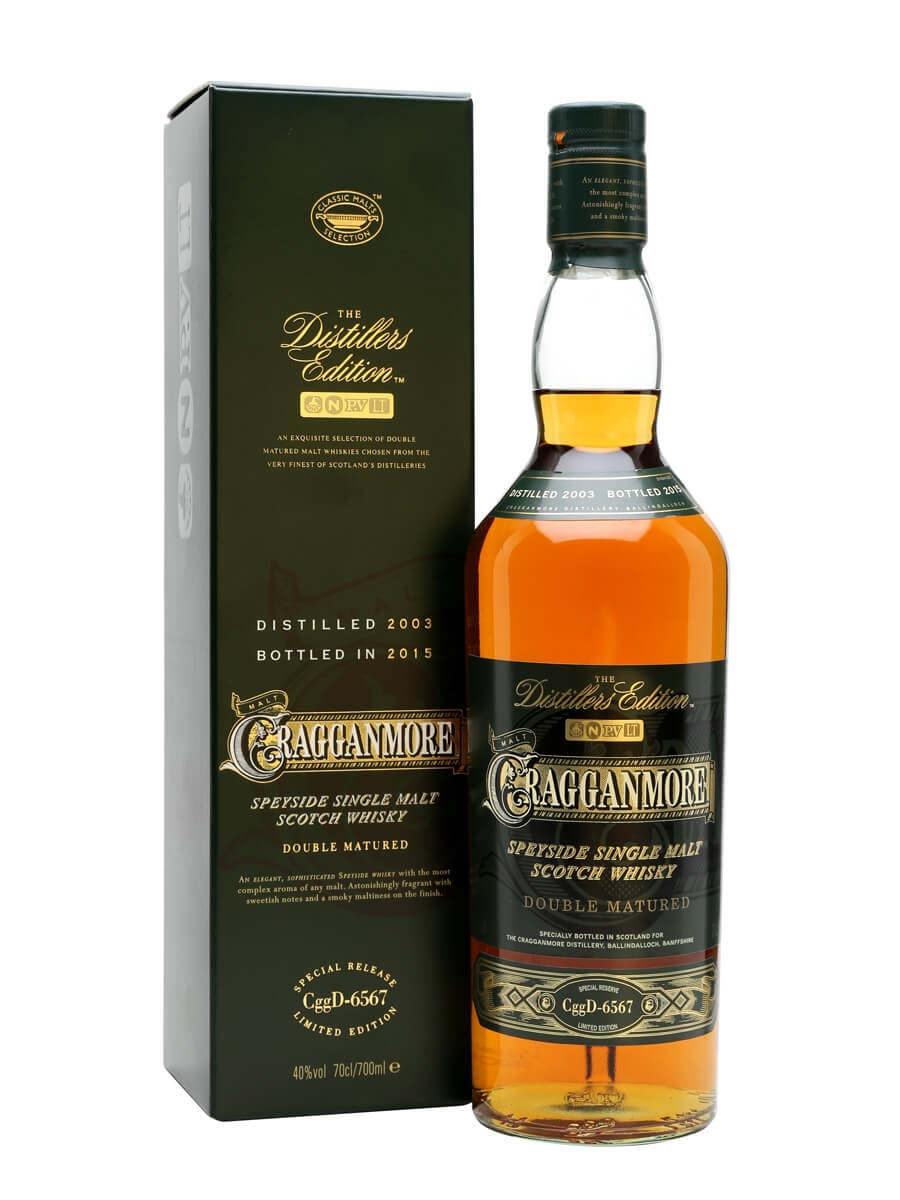 Cragganmore 1992 distiller's edition (double matured in port casks.