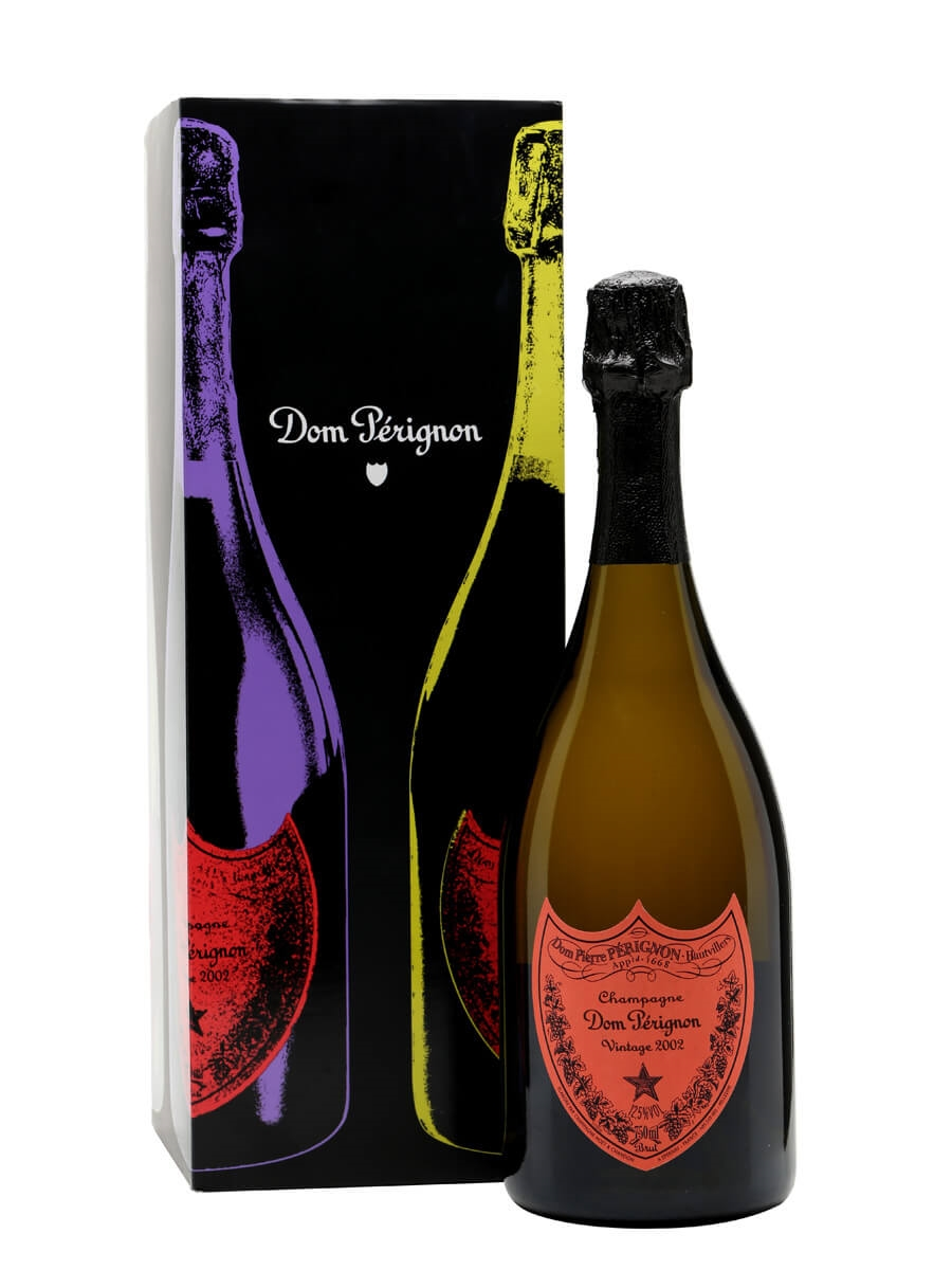 Dom Perignon 2002 Vintage Champagne Andy Warhol Edition The