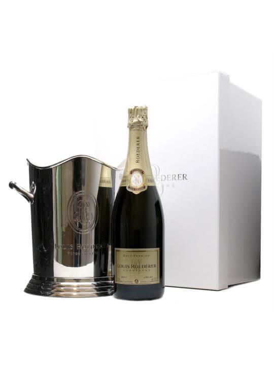 louis roederer brut premier nv champagne ice bucket set. Black Bedroom Furniture Sets. Home Design Ideas