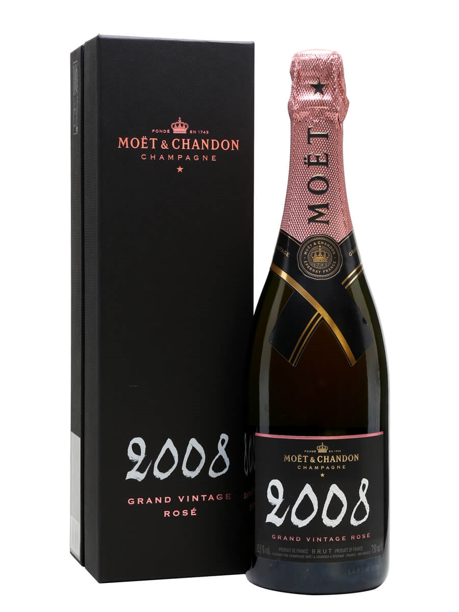 Moet chandon 2008 grand vintage rose champagne the for What is rose champagne