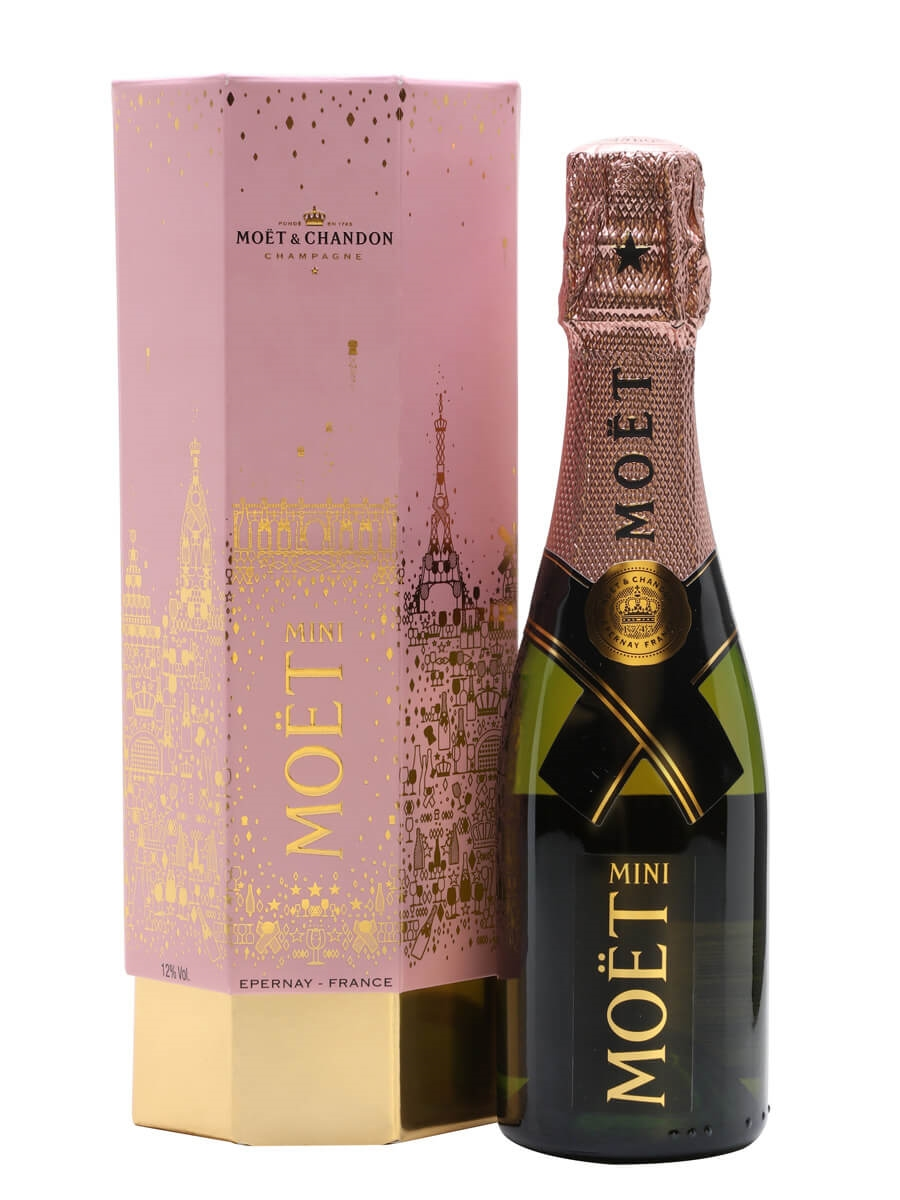 Moet & Chandon Rose Imperial Champagne / Christmas Cracker