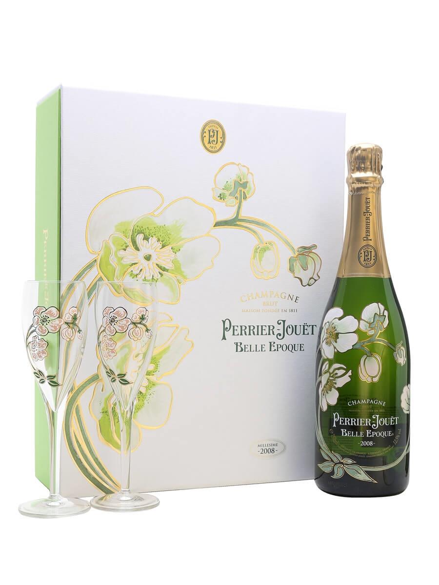 perrier jouet belle epoque 2008 champagne glass set the whisky exchange. Black Bedroom Furniture Sets. Home Design Ideas