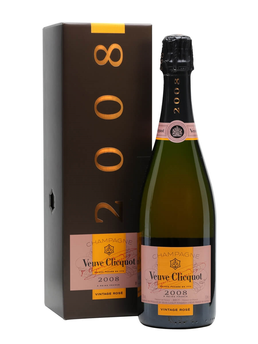 Veuve Clicquot Rose 2008 Vintage Champagne Gift Box